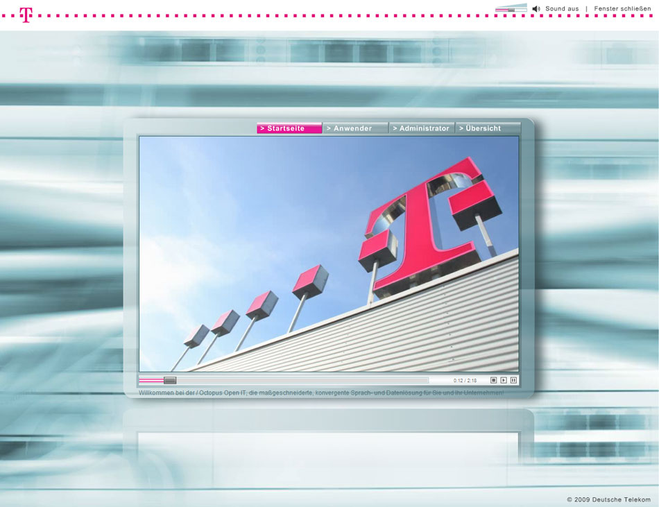 Multimedia Presentation for Telekom