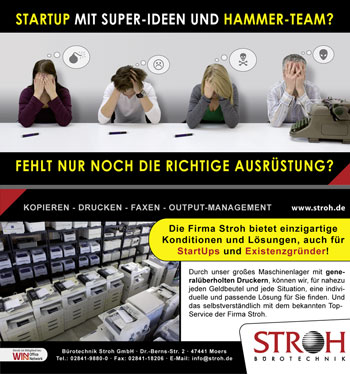 Flyer Design StartUp for Stroh